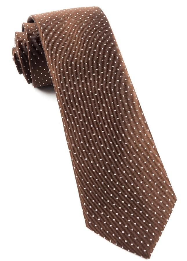 Mini Dots Chocolate Brown Tie
