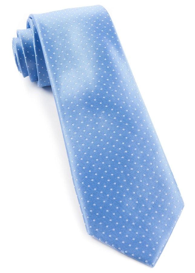 Mini Dots Light Blue Tie
