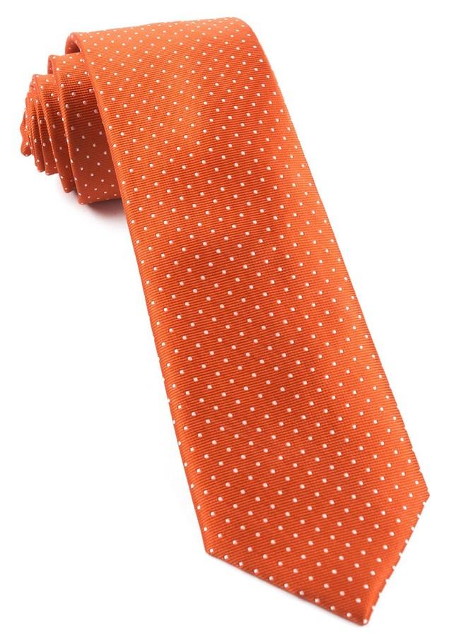 Mini Dots Orange Tie