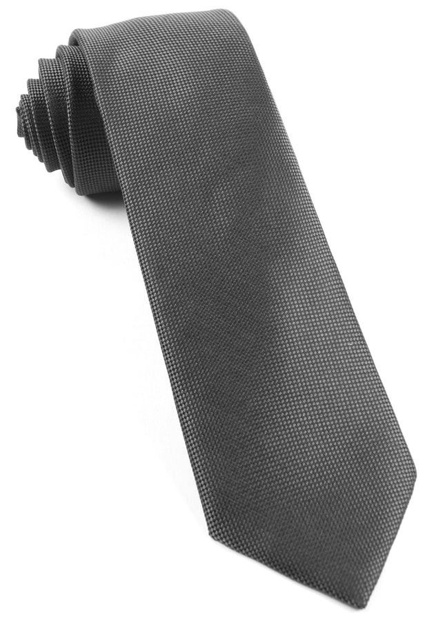 Solid Texture Dark Charcoal Tie