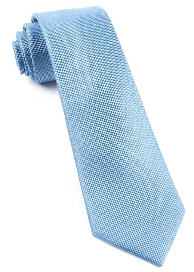 Solid Texture Light Blue Tie