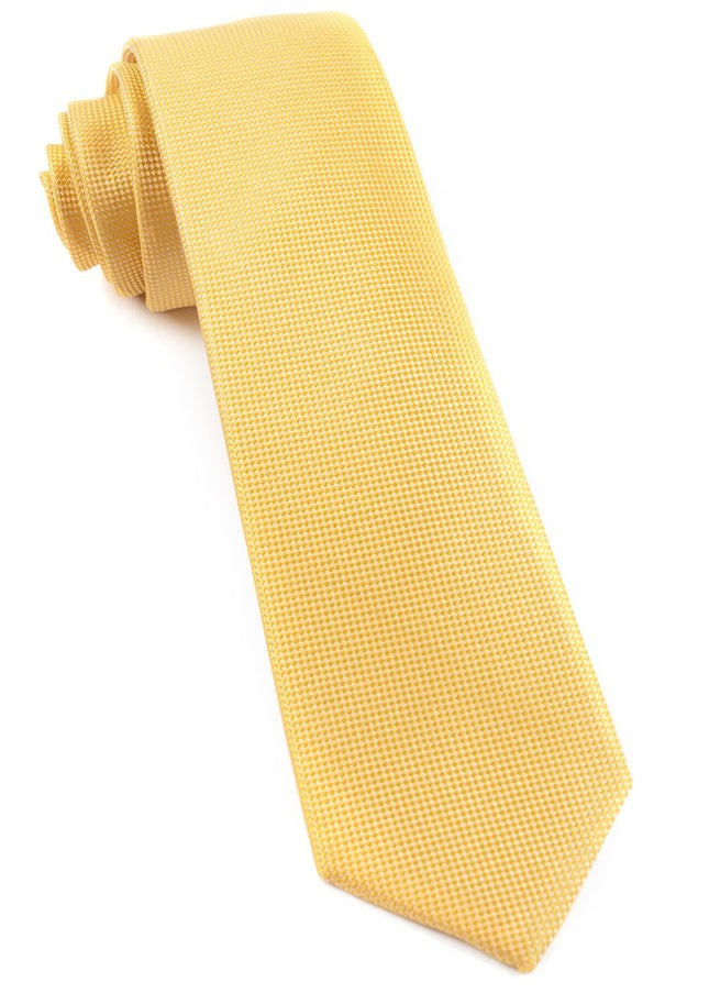 Solid Texture Yellow Tie