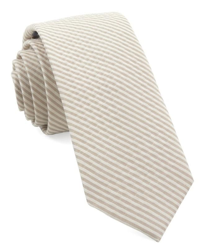 Bhldn Silk Seersucker Champagne Tie