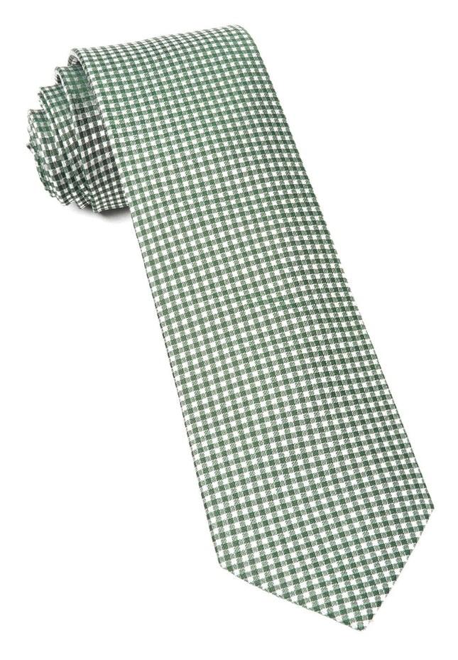 Bahama Checks Hunter Green Tie