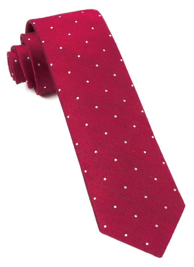 Bulletin Dot Red Tie