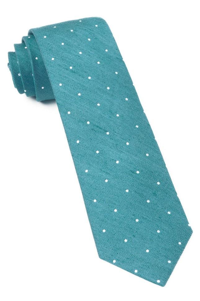Bulletin Dot Teal Tie