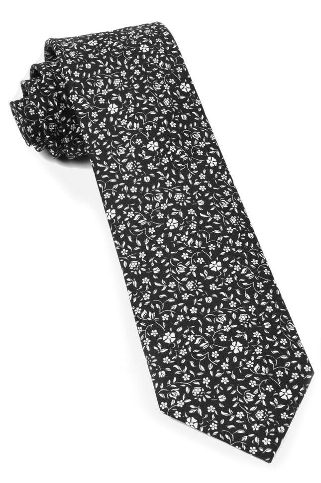 Peninsula Floral Black Tie