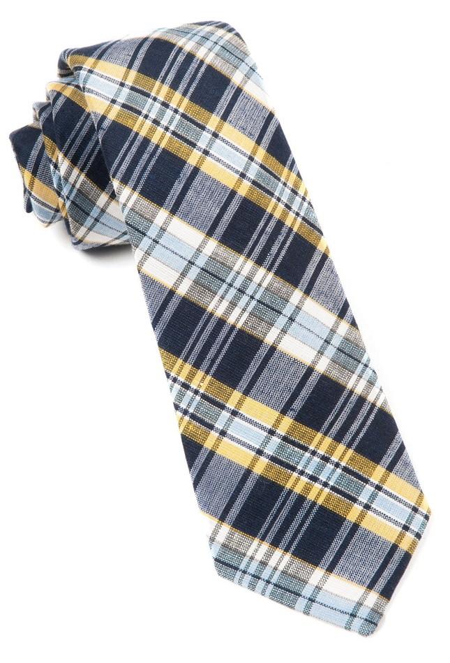 Rnr Plaid Classic Navy Tie