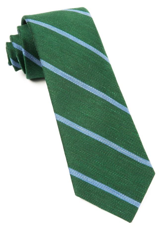 Spring Break Stripe Hunter Green Tie