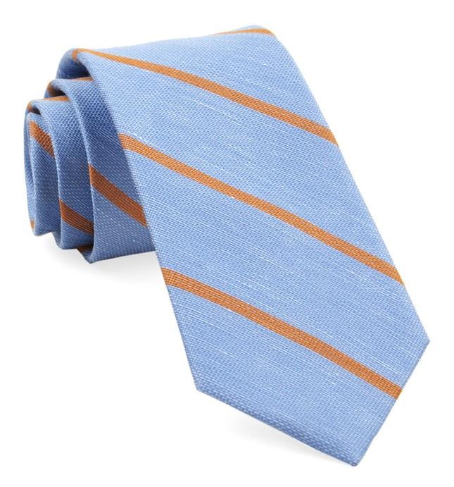 Spring Break Stripe Light Blue Tie
