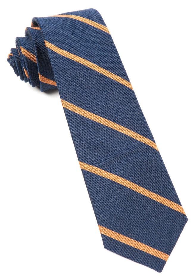 Spring Break Stripe Navy Tie