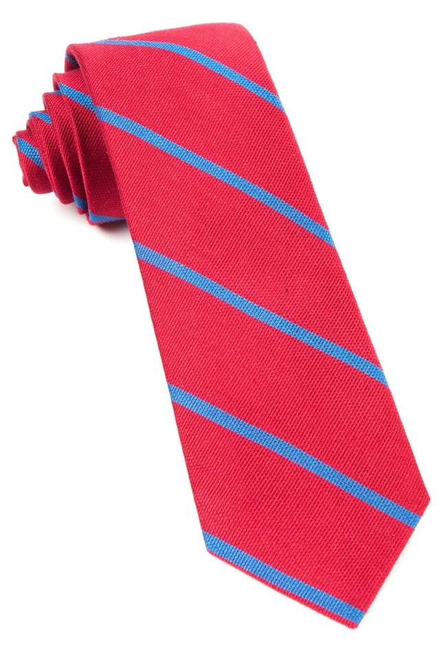 Spring Break Stripe Apple Red Tie