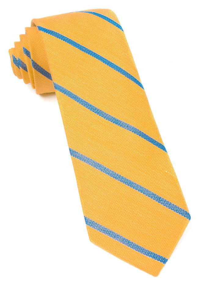 Spring Break Stripe Yellow Gold Tie
