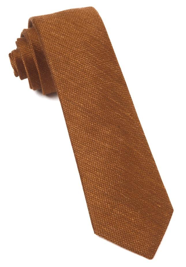Jet Set Solid Bronze Tie