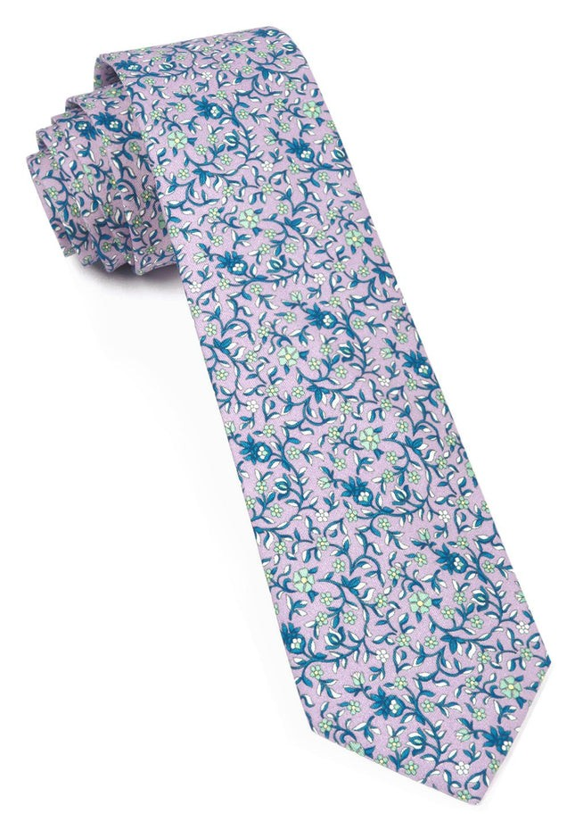Peninsula Floral Lilac Tie