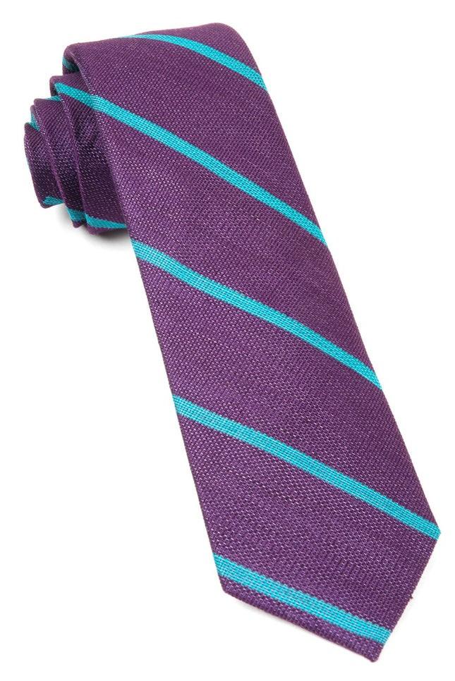Spring Break Stripe Deep Plum Tie