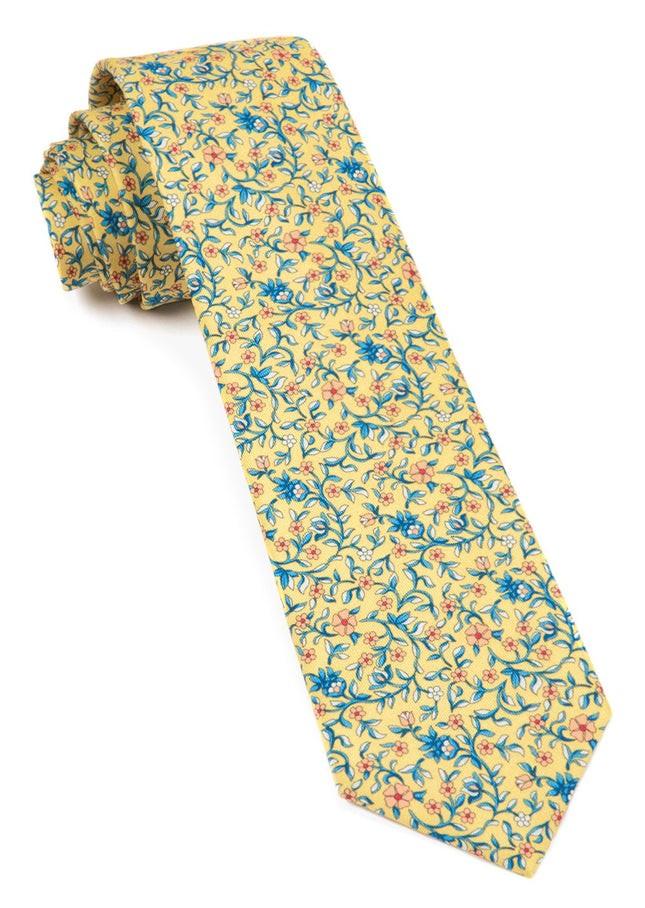 Peninsula Floral Yellow Tie