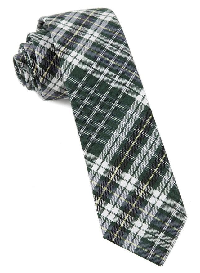 Eclipse Plaid Hunter Green Tie