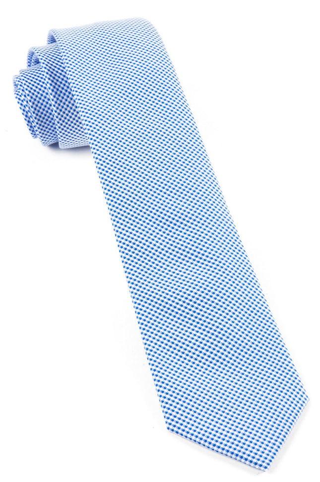 Carpenter Checks Light Blue Tie