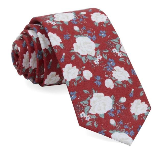 Hodgkiss Flowers Red Tie