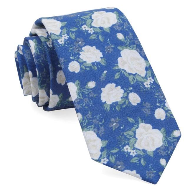 Hodgkiss Flowers Royal Blue Tie