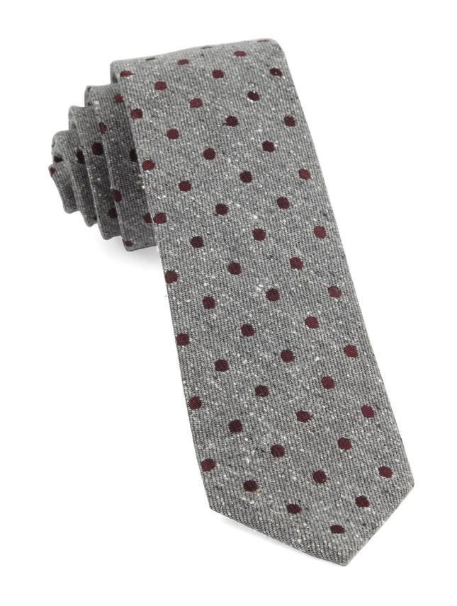 Revolve Dots Burgundy Tie