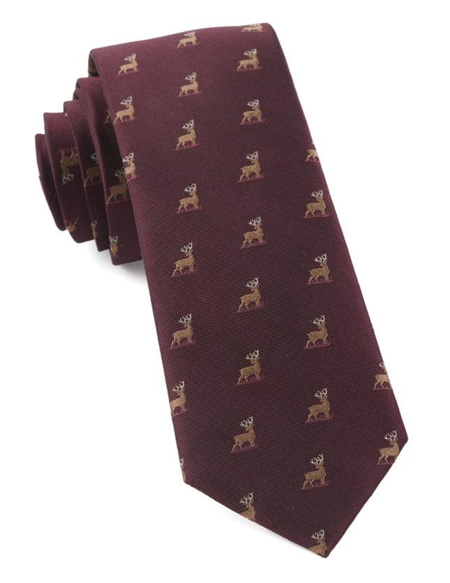 Buck Wild Wine Tie