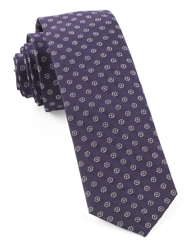 Eagle Eye Medallion Eggplant Tie