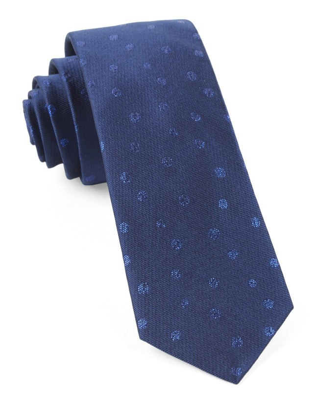 Circle Soiree Navy Tie