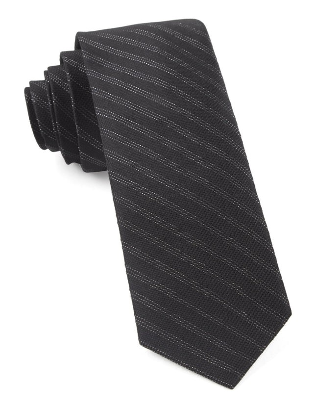 Studded Stripe Black Tie