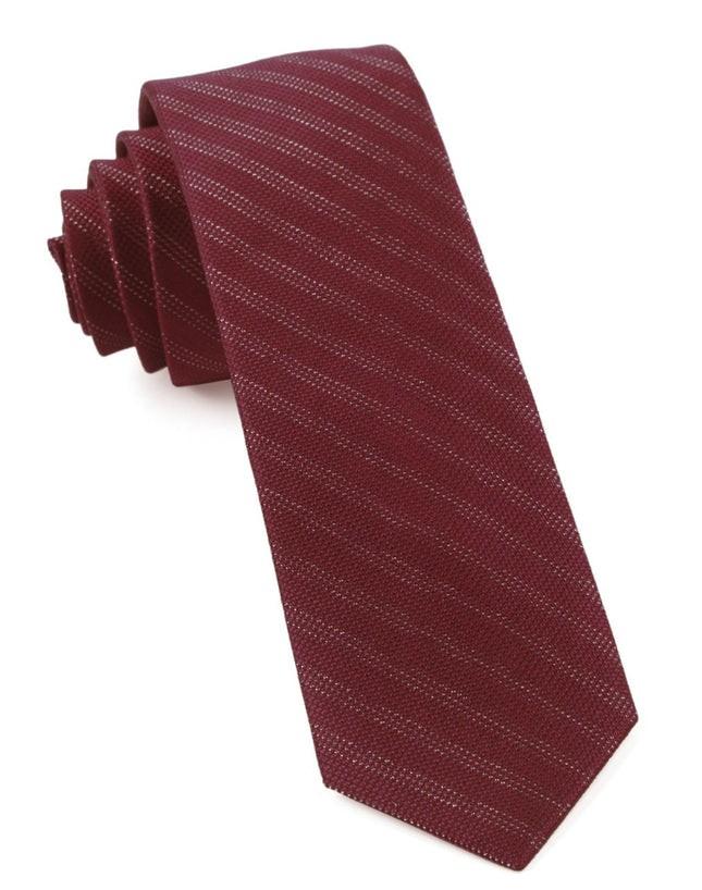 Studded Stripe Burgundy Tie