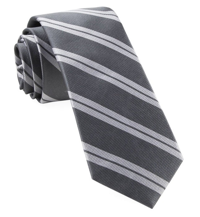 Center Field Stripe Grey Tie