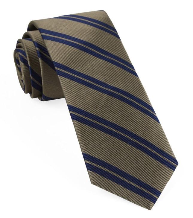 Center Field Stripe Champagne Tie