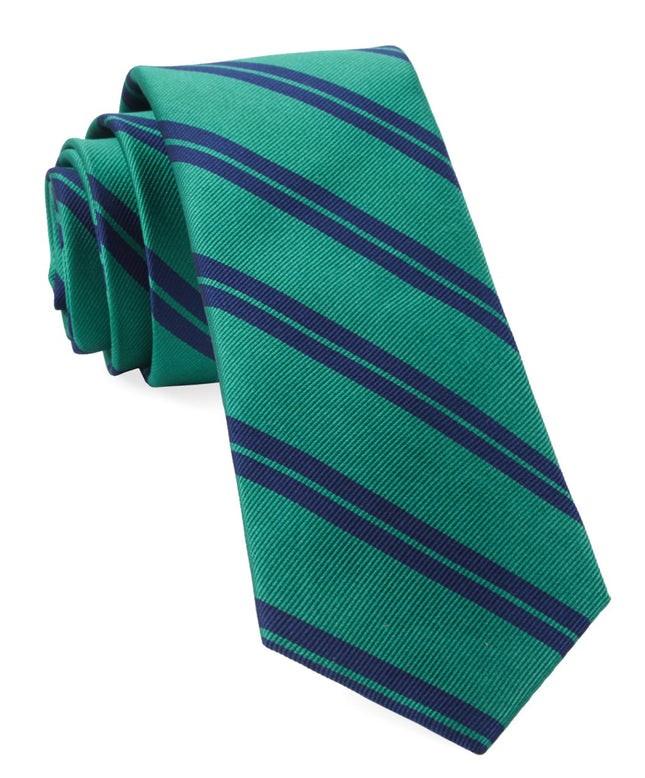 Center Field Stripe Kelly Green Tie