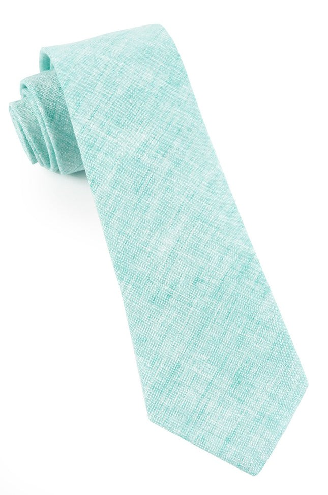 Freehand Solid Spearmint Tie