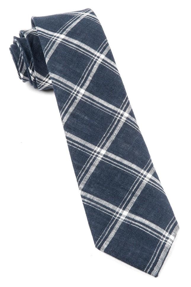 Jet Plaid Navy Tie