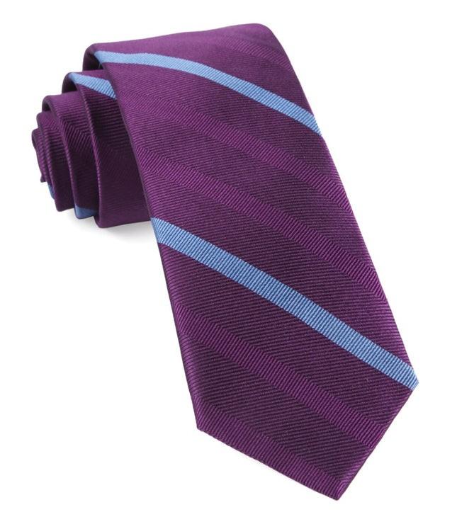 Goal Line Stripe Azalea Tie