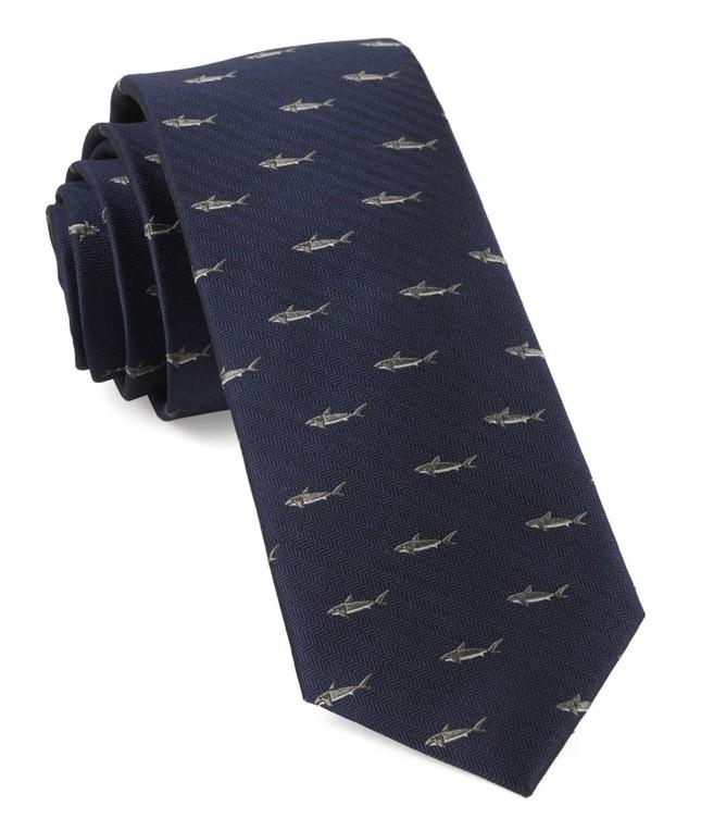 Shark Dive Navy Tie