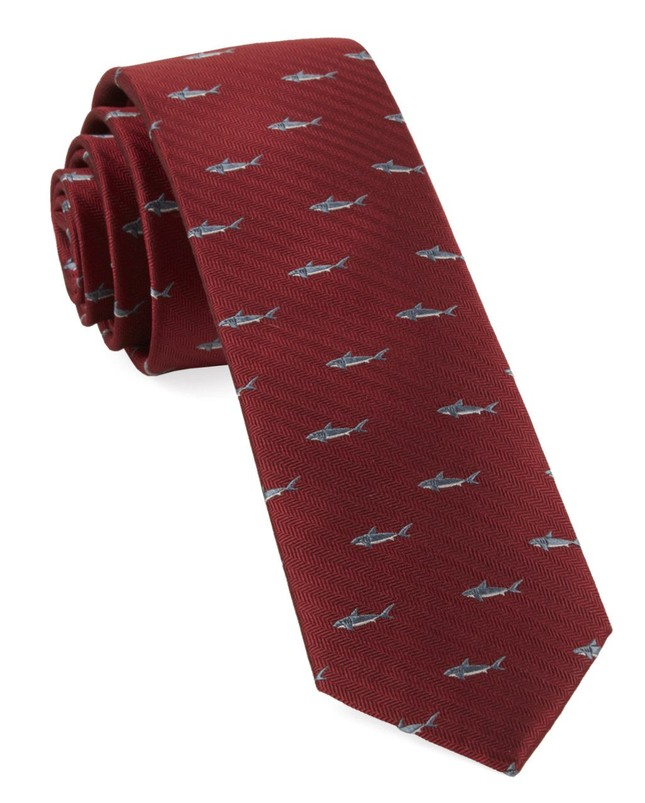 Shark Dive Red Tie