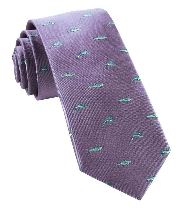 Go Fish Lavender Tie