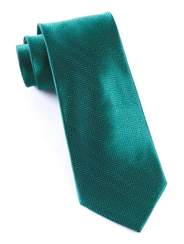 Herringbone Jade Tie