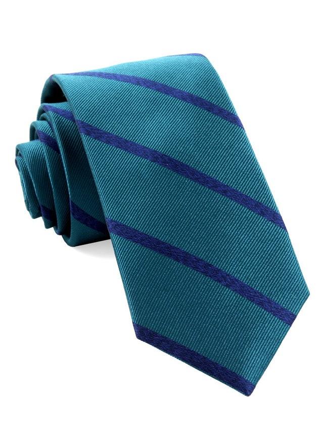 Wheelhouse Stripe Teal Tie