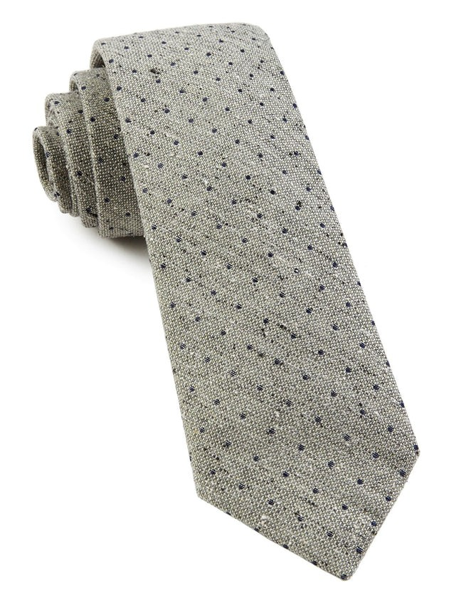 Dotted Peace Sage Green Tie