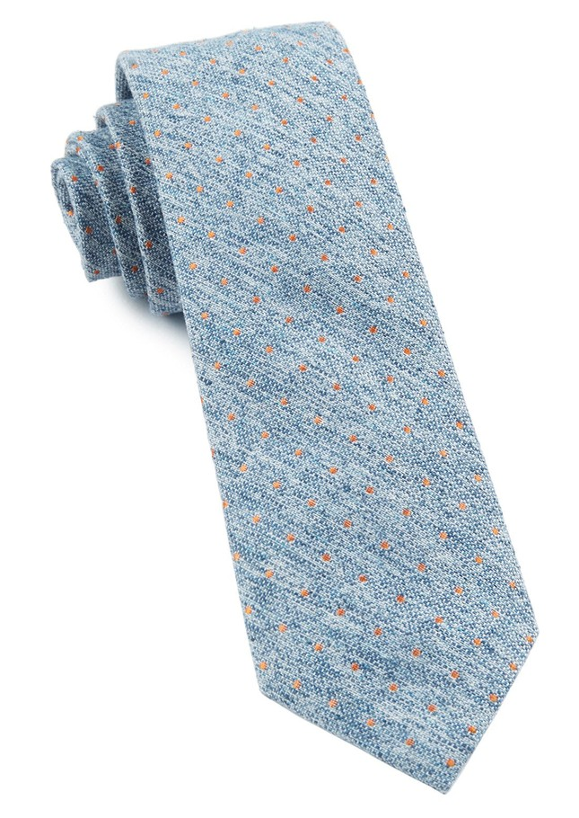 Dotted Peace Light Serene Blue Tie
