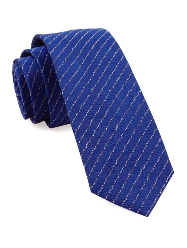 Unraveled Stripe By Dwyane Wade Royal Blue Tie