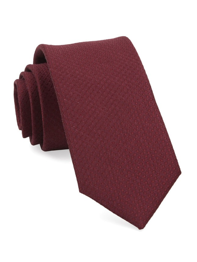 Dotted Spin Burgundy Tie