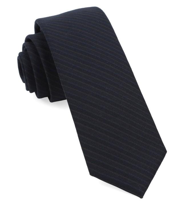 Chalk Stripe Midnight Navy Tie
