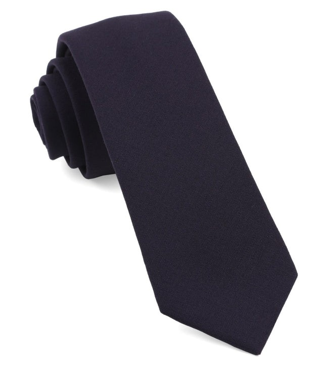 Faculty Solid Eggplant Tie