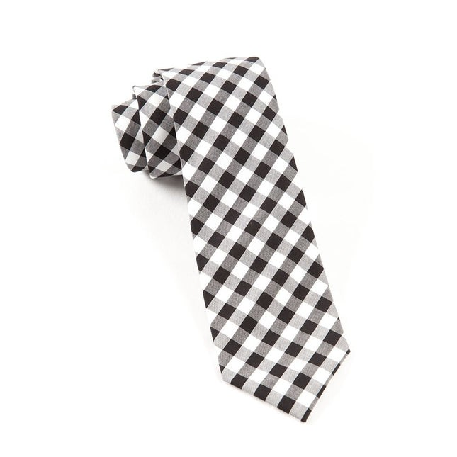Cotton Table Plaid Black Tie
