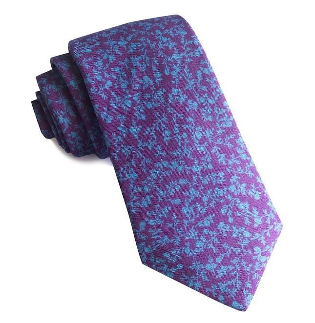Floral Webb Wisteria Tie